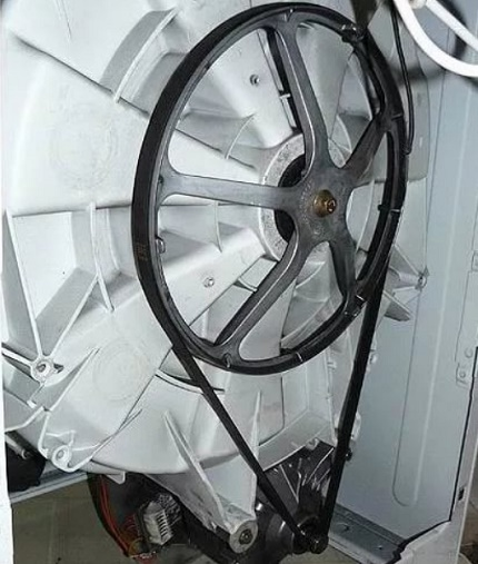Dismantling the washing machine belt and pulley