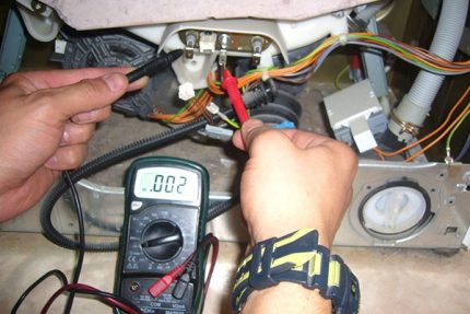 Use in work of a multimeter