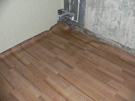 Linolejs siltumizolētām grīdām