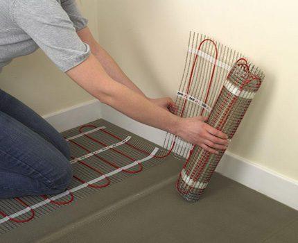 Elektrisko paklāju uzstādīšana