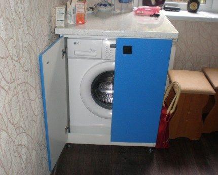 Washing machine in the hallway