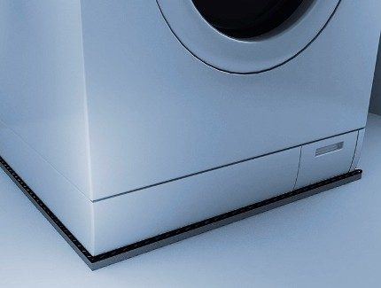 Anti-vibration mat under the machine