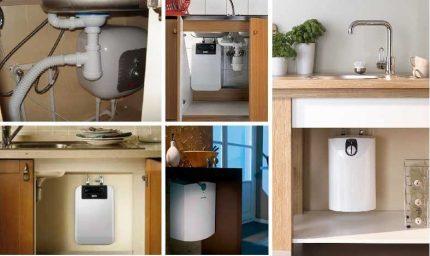 Options d'installation pour les chauffe-eau