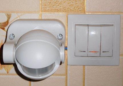 Sensor plus key switch