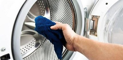 Caring for the washing machine