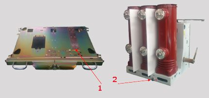 Earthing contactors of the equipment cart and switch