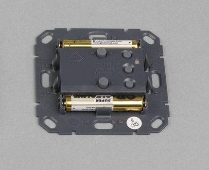 Battery location in the wireless module