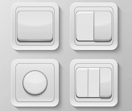 Wireless switches with different number of keys