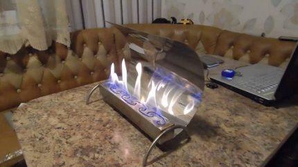 Homemade eco-fireplace