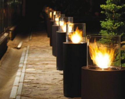 Bioethanol for street lighting