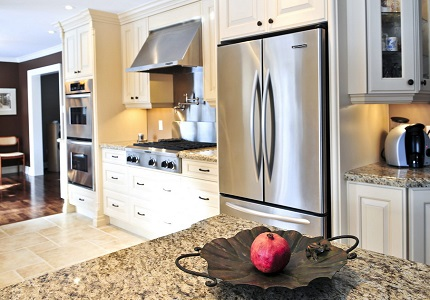 Swing refrigerator side by side