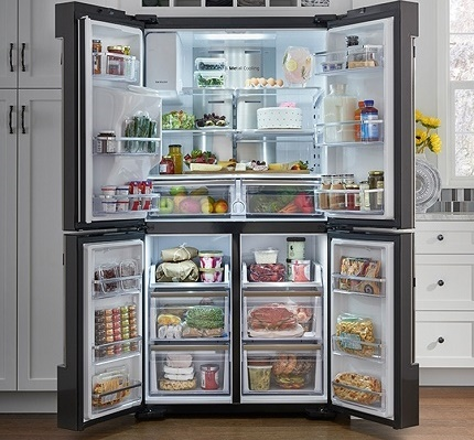 Zoning a large refrigerator