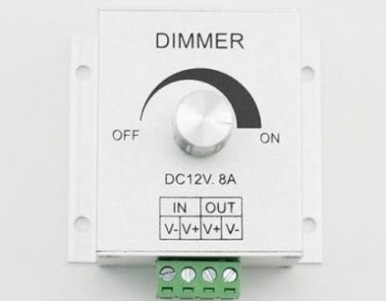 Rotary dimmer with handle