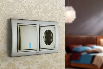 Key dimmer in the interior