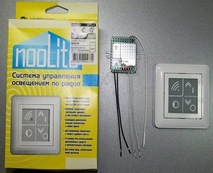 Dimmer equipped with a radio remote control