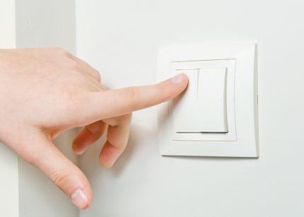 Fonctionnement à interrupteur unique