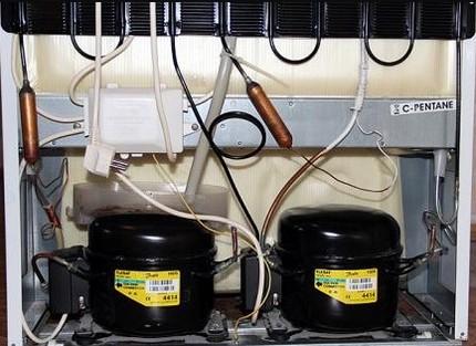 Divu kompresoru ledusskapis