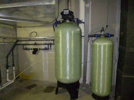 Water deferrization filter