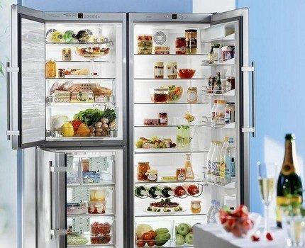 Ledusskapis ar divām durvīm