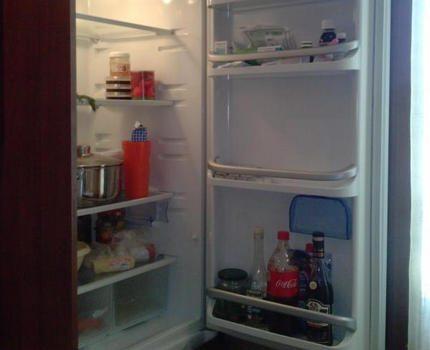 Ledusskapis iebūvēts virtuvē