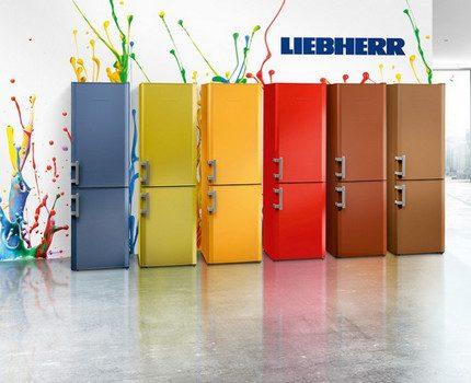 Liebher ledusskapja krāsu atlasītājs
