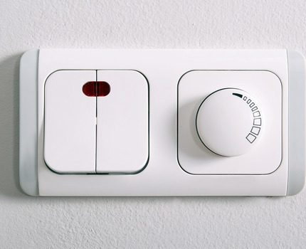 Combined overhead dimmer