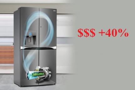 Invertora ledusskapju izmaksas ir augstākas