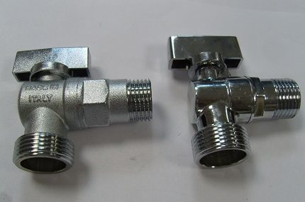 Different types of taps for washing machines