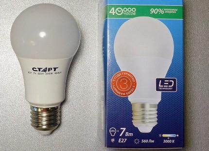 LED lamp marking
