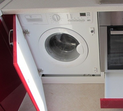 Built-in compact washer installation option