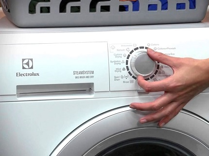 Electrolux washing machine control unit