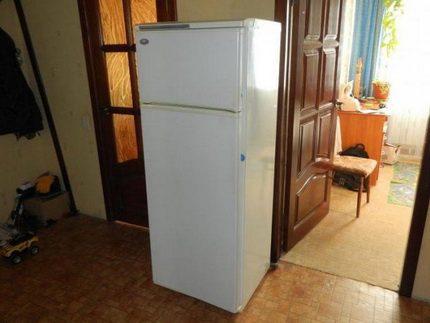 Minskas logo ledusskapis standarta dzīvoklī