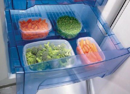 Pārtikas uzglabāšana saldētavā