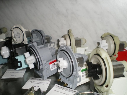 Pumps for washing machines