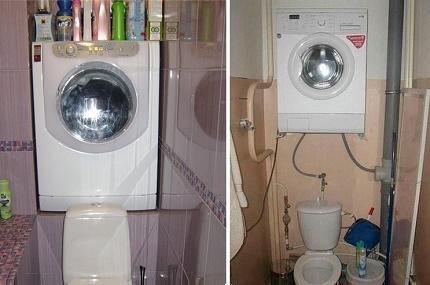 Floor-mounted model over the toilet