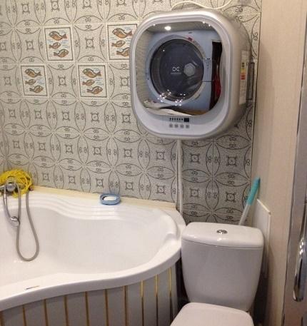 Installing a machine over plumbing