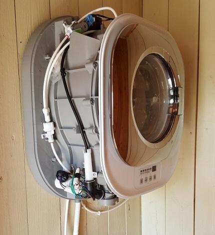 Wall-mounted mini-washing device