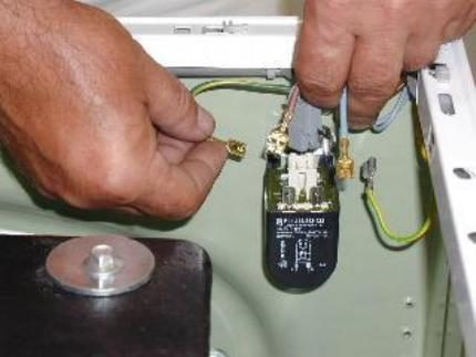 Filter interference in the washing equipment