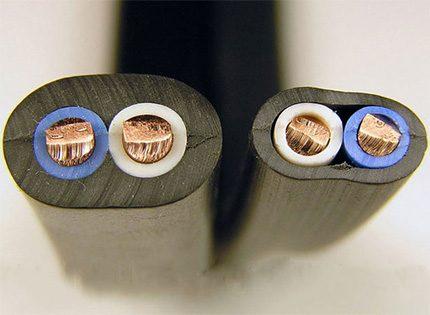 Atšķirība kabeļiem, kas izgatavoti saskaņā ar GOST un TU