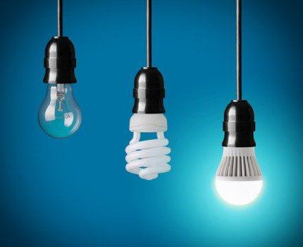 Three generations of light bulbs