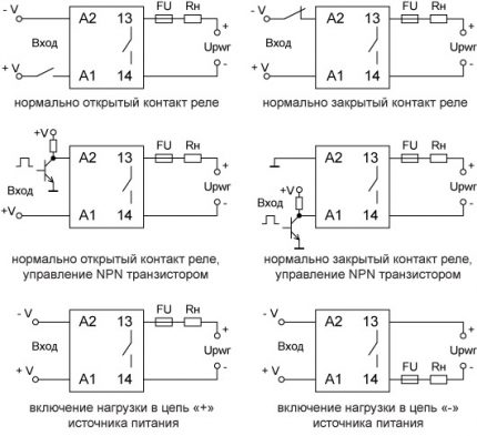Types of single-phase TTR connection schemes