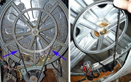 Replacing the washing machine transmission belt