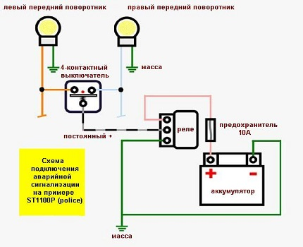 Emergency button circuit