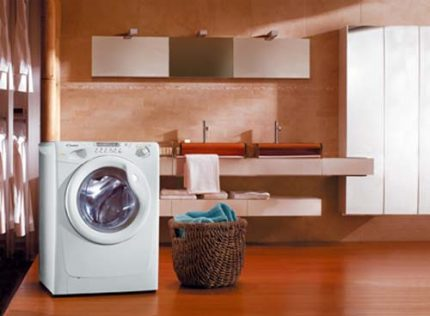 Kandy washing machine in the interior
