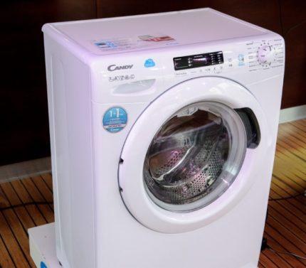 Narrow washing machine