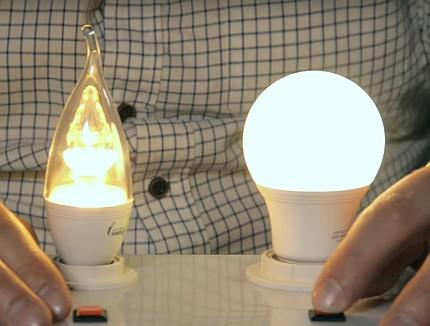 Light bulb comfort comparison