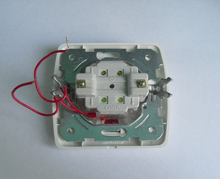 Interrupteur LED avec fils de rétroéclairage ouverts