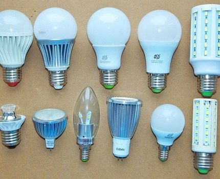 Types of dimmable lamps