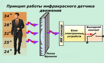 IR motion sensor