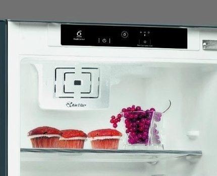 Whirlpool refrigerator interior